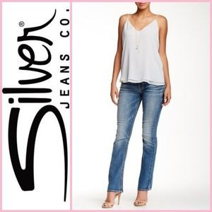 Silver Jeans Co. Suki Mid Slim Bootcut Fluid Denim